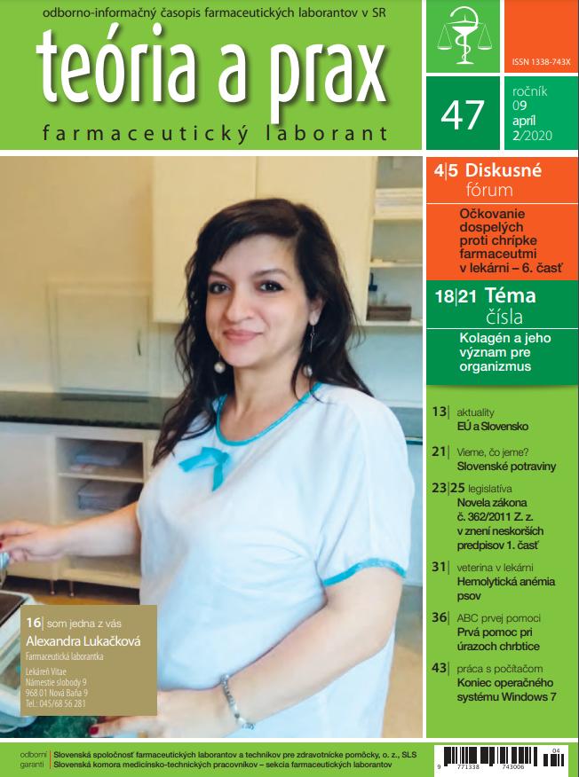 Teória a prax farmaceutický laborant 47/2020